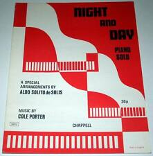Partition vintage sheet music COLE PORTER : Night and Day * 40's Piano Solo