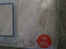 Single bed sheets Night Owl - two flat sheets and one pillow case