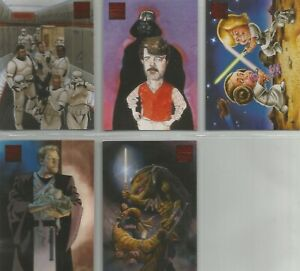 """Star Wars Galaxy 4 - """"Lost Galaxy"""" 5 Card Chase Set #1-5"""