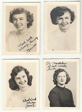 [57133] Circa 1950 LOT OF 4 ANSONIA, CONNECTICUT SCHOOL PORTRAITS