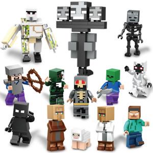 13er Kinder Minecraft My World Mini Figures Characters Building Blocks Fit Leg