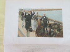 Vintage Print,QUEEN VICTORIA On Board AMERICA,C.Chase,1902