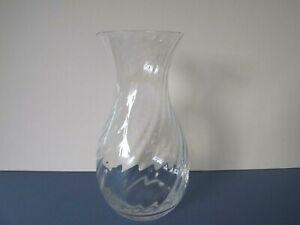 Dartington Crystal Glass Ripple Vase 21cm