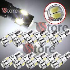 10 LED Lampade T10 6 SMD 5630 Canbus BIANCO HID Luci No Errore Posizione Lente