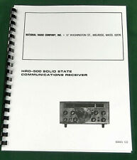 """National Hro-500 Instruction Manual: 11""""X24"""" Schematics & Protective Covers!"""