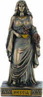 Griego Diosa Hestia (Frío Reparto Bronce Miniatura 8.5cm/8.4cm)