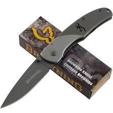 BROWNING T1 MOUNTAIN TITANIUM Framelock Pocket Knife 560 Drop Point Blade