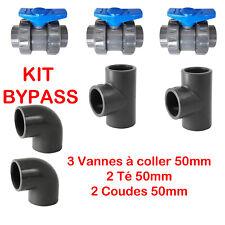 PVC Pression Kit Bypass 50mm Piscine pour créer Une dérivation du Circuit d'eau