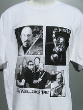 Jethro Tull & Peter Frampton LIVE This Was...2008 Tour white t shirt sz XL NWOT