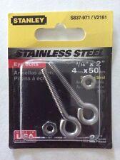 "Stanley-National Hardware 3/16"" x 2"" Standard-Thread Eye Bolt V2161"