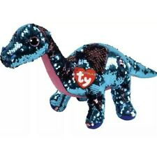 """TY FLIPPABLES TREMOR Dinosaur Sequins 6"""" NASA SpaceX NWT Beanie Baby"""