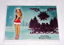 2015 Benchwarmer JENNIFER WALCOTT Holiday #81 Pink Foil Variant/5 PLAYBOY Sexy