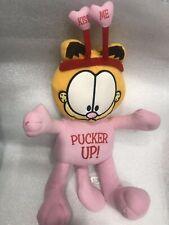 Garfield Pucker Up Plush Stuffed Animal Toy Preowned