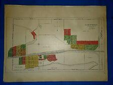 Vintage 1916 CITY of DEPUE, ILLINOIS MAP Ancestry Genealogy Family History