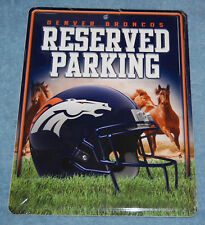 Denver Broncos Reserved Parking Metal Sign, New