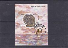 MADAGASCAR 1992 COQUILLES MOLLUSQUES BLOC FEUILLET OBLITERE YT BF 83