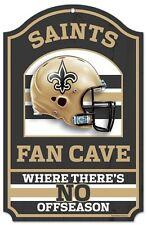 "New Orleans Saints Fan Cave Design Wood Sign - 11"" x 17"" [NEW] NFL Wall Man"
