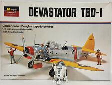 AVIATION : 1/48 SCALE DEVASTATOR TBD-1 CARRIER BASED DOUGLAS TORPEDO-BOMBER KIT