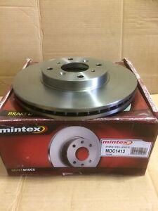 Mintex Mdc1413 Pair Of Front Vented Discs Fit Honda Accord