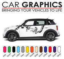 Mini car graphics stripes decals stickers cooper vinyl design mn2