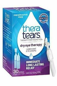 TheraTears Eye Drops for Dry Eyes, Dry Eye Therapy Lubricant Eyedrops, 30 Count