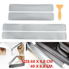 Car Accessories Door Sill Scuff Carbon Fiber Stickers Welcome Pedal Protect+tool
