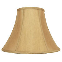 Gold Hand Made Fabric Bell Lamp Shade for Table Lamp, 8x16x12 (Spider)