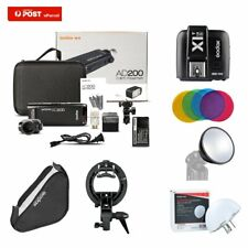 AU Godox AD200 2.4G TTL HSS Flash+X1T-S For Sony +AD-S2+AD-S11+60*60 softbox Kit