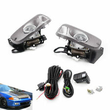 For 92-95 Honda Civic 2/3 Door JDM Clear Bumper Fog Light + Switch Driving Lamps
