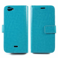 BLU Energy Diamond Case E130U Luxury Leather Wallet Pocket Book+Tempered Glass