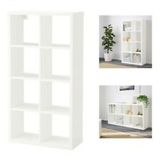 Ikea FLYSTA 8S White Shelving Unit,Home Office,Display,Storage Bookcase,69x132cm