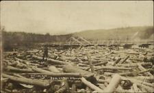 Logging Log Jam on The Spanish Sudbury & Algoma Ontario I Think RPPC c1910