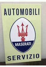 Premium HD Panel Aluminum Maserati Service Racing  Reproduction Garage Sign
