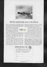 AMERICAN MAIL LINE 1968 SAIL STORIED ROUTE TO THE ORIENT MARINER CLASS LINER AD