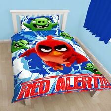 ANGRY BIRDS SINGLE REVERSIBLE CHILDS DUVET COVER & PILLOW CHARACTER BEDDING SET