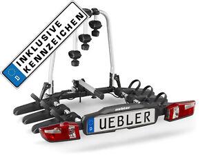 Uebler Porte-Vélo Support D 'em Brayage F32 15830 3 Vélos Pliant + Marque