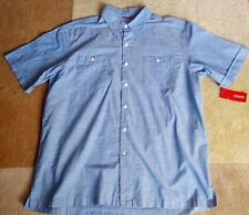 Izod Summer Short Sleeve Blue Shirt Large
