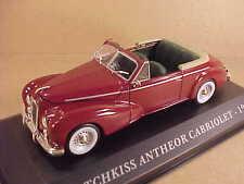 Altaya 1/43 Diecast 1953 Hotchkiss Antheor Cabriolet with RHD, Burgundy #AFCY04