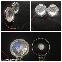 "2 X 3.5"" Universal 100W Halogen Car Truck Fog Light DRL Reverse Lamps Headlights"