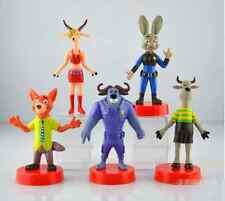 New Lot 5pcs/lot 8-9cm Zootopia Cartoon Action Figure Pvc Mini dolls toys gifts