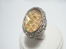 Sterling Silver Drusy & Faceted Crystal Quartz Doublet Ring Size 7 $137 QVC