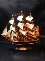 Wooden Model Sailboat Cutty Sark Painted Hand Crafted Display Decor