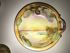 "Beautiful Nippon Hand painted ""Acorn"" Bowl and 6 saucers"