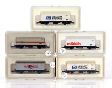 MARKLIN Z MINI-CLUB 8616 8617 8615 2x 8618 Freight Cars