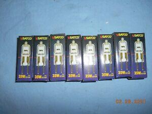 Lot of 8  SATCO S3160 35W 12V Bi-Pin GY6.35 Base Halogen Bulb *NIB*