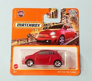"""Matchbox 2021. """"2019 Fiat 500 Turbo. New Collectable Toy Model Car."""