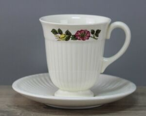 Wedgwood Edme Briar Rose Kaffeetasse mit Unterteller/Untertasse Tasse/Mangel