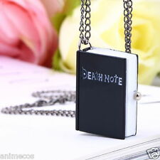 Death Note Book Quartz Pocket Watch Pendant Necklace Gift Cosplay