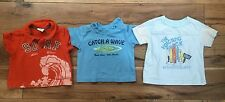 Lot Of 3 Infant Boy Tropical Tshirts 0-3month  3-6 Month Old Navy