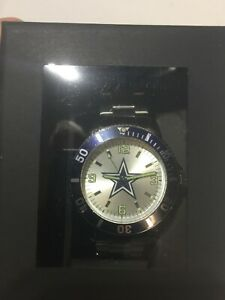 F644 DALLAS COWBOYS Sparo Silver Key Bracelet Quartz Mens Watch